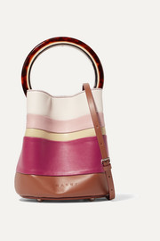 Marni Pannier small striped leather bucket bag