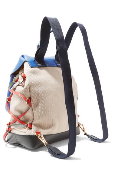Marni Rucksack aus Canvas mit Lederbesätzen Verkauf Niedriger Versand Steckdose Versorgungs lrGuv