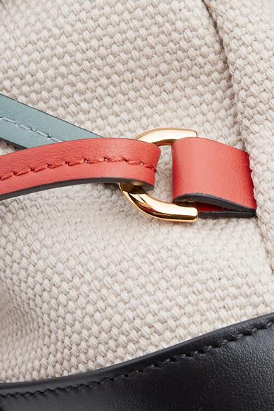 Marni Rucksack aus Canvas mit Lederbesätzen