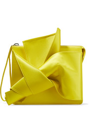 Knot satin clutch