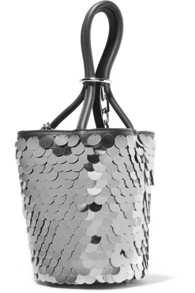 Alexander Wang Roxy mini Beuteltasche aus paillettenverziertem Leder