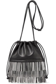 Ryan Dustbag mini fringe-trimmed leather pouch