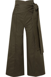 Silvia Tcherassi Salve belted cotton-blend wide-leg pants