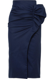 Silvia Tcherassi Stromboli gathered cotton-blend skirt