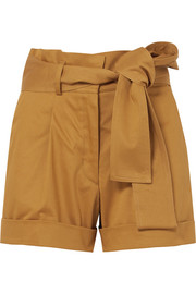 Silvia Tcherassi Velano belted cotton-blend shorts