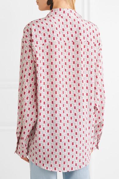 Marni Bedrucktes Hemd aus Crêpe de Chine aus Seide