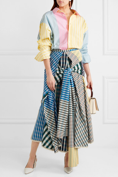 Marni Gestreiftes Oversized-Hemd aus Baumwolle