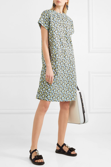 Marni Dress In Cotton With Floral Print