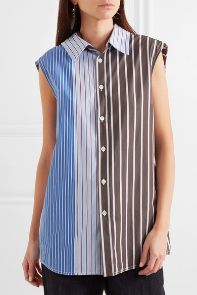 Marni Hemd aus gestreifter Baumwollpopeline
