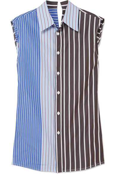 Paneled Striped Cotton Poplin Shirt by Marni