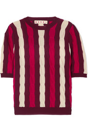 Marni Striped wool top