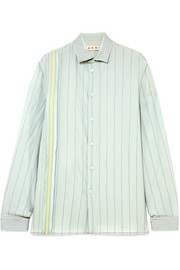 Marni Embroidered crepe de chine shirt
