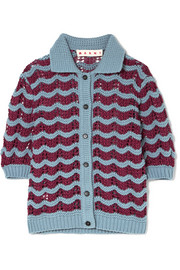 Marni Crocheted wool-blend cardigan