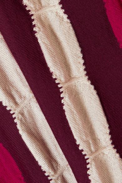 Marni Asymmetrischer Maxirock aus gestreifter Wolle
