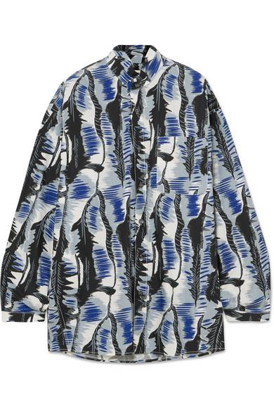 Marni Oversized-Hemd aus bedruckter Baumwollpopeline