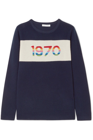 Bella Freud 1970 Kaschmirpullover in Metallic-Optik
