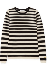Skinny Minnie striped wool and cashmere-blend sweater