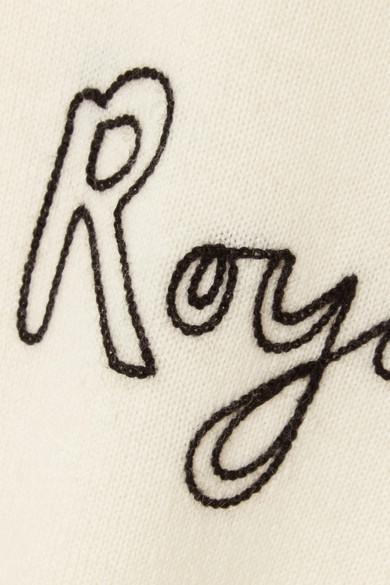 Bella Freud Royalty Pullover aus einer Woll-Kaschmirmischung mit Intarsienmotiv und Stickerei
