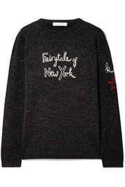 + Kate Moss Fairytale Of New York embroidered metallic wool-blend sweater