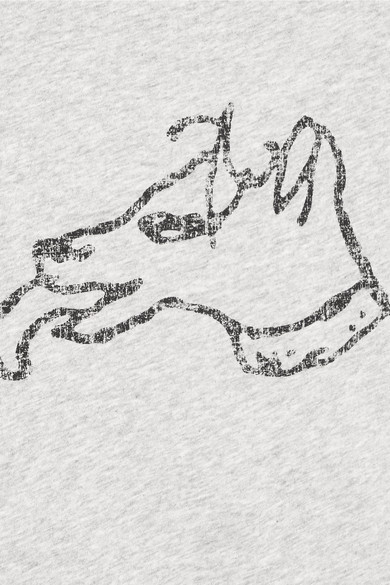 Bella Freud Bedrucktes T-Shirt aus Baumwoll-Jersey mit Stretch-Anteil