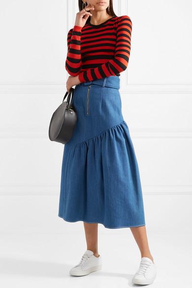 Bella Freud Skinny Minnie gestreifter Pullover aus einer Woll-Kaschmirmischung