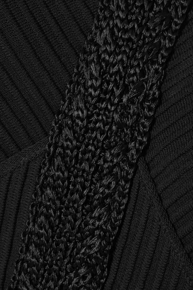 Antonio Berardi Ausgestelltes Oberteil aus geripptem Baumwoll-Jersey mit Cut-outs