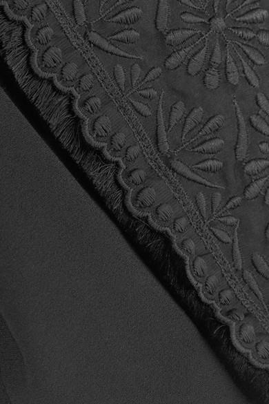 Antonio Berardi Verkürzte Jacke aus Crêpe mit Stickerei und Fransen Um Zu Verkaufen Verkauf Schnelle Lieferung dldPqvxNT