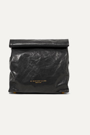 Lunchbag 20 crinkled-leather clutch