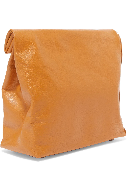SIMON MILLER Lunchbag 20 Clutch aus strukturiertem Leder