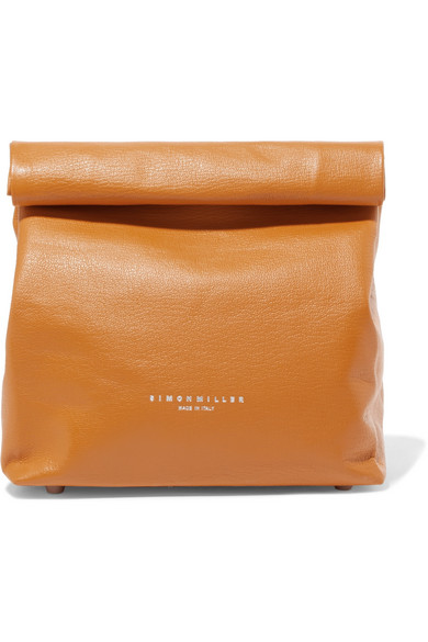 Lunchbag 20 Textured Leather Clutch by Simon Miller