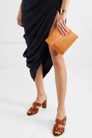 Lunchbag 20 textured-leather clutch