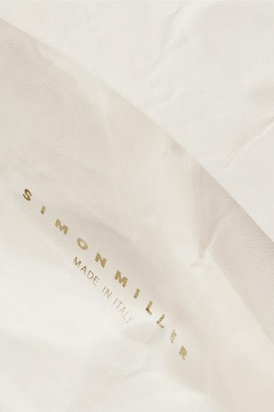 Günstige Rabatte Erhalten Authentisch Günstigen Preis SIMON MILLER Lunchbag 30 Clutch aus Leder in Knitteroptik Authentische Online IdFU6jVoga