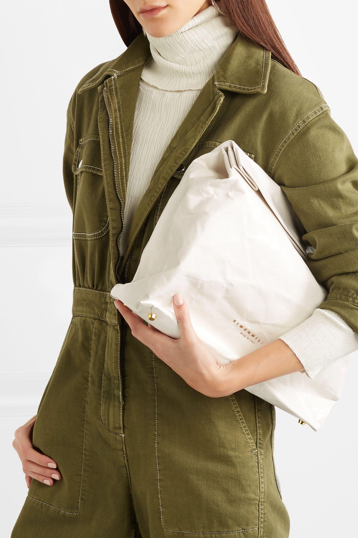 SIMON MILLER Lunchbag 30 crinkled-leather clutch
