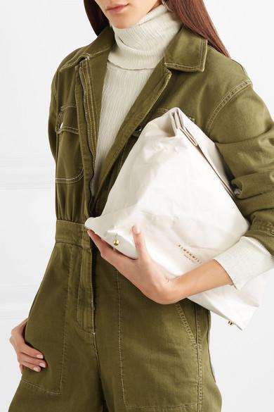 SIMON MILLER Lunchbag 30 Clutch aus Leder in Knitteroptik Erhalten Authentisch Günstigen Preis Günstige Rabatte Billig Verkaufen Mode-Stil flFVls