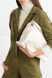 Lunchbag 30 crinkled-leather clutch