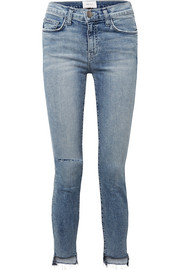 The High Waist Stiletto distressed skinny jeans