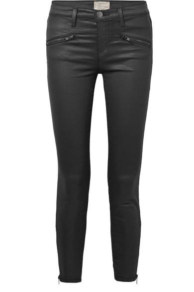 Current/Elliott Soho tief sitzende Skinny Jeans mit Beschichtung