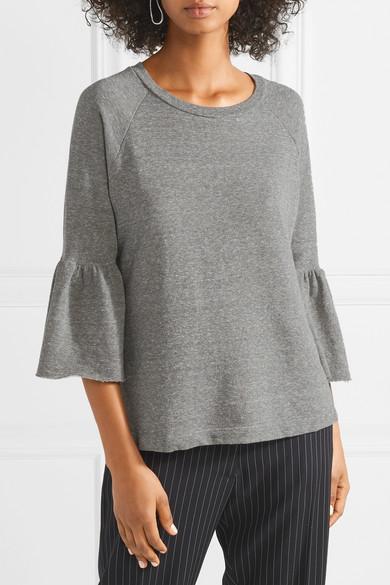 Current/Elliott The Ruffle Sweatshirt aus Frottee aus einer Baumwollmischung