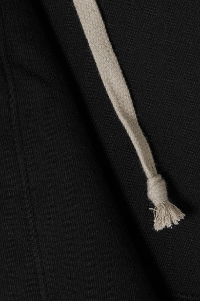 Rick Owens Drapierte Kapuzenjacke aus Baumwoll-Jersey