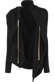 Rick Owens Hooded draped cotton-jersey jacket