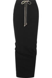 Rick Owens Ruched cotton-jersey maxi skirt