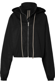 Rick Owens Cropped hooded cotton-canvas jacket