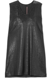 Rick Owens Metallic crepe mini dress