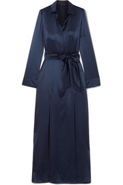 Galvan Laguna silk-satin maxi dress