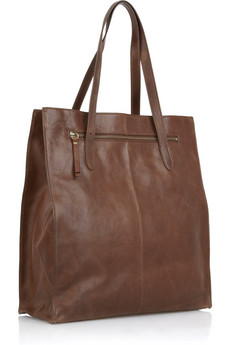 J.Crew | Leather top handle tote | NET-A-PORTER.COM