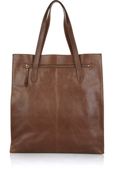 J.Crew | Leather top handle tote | NET-A-PORTER.COM from net-a-porter.com