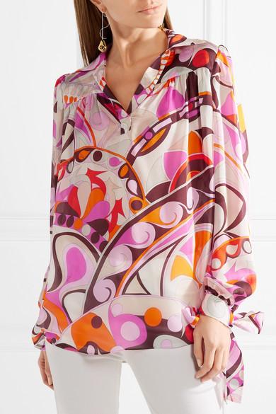 Billige Ebay Speicher Mit Großem Rabatt Emilio Pucci Nigeria bedruckte Bluse aus Seidenchiffon Auslass Visa Zahlung Billige Amazon Aus Deutschland Verkauf Online hYh7rNvO