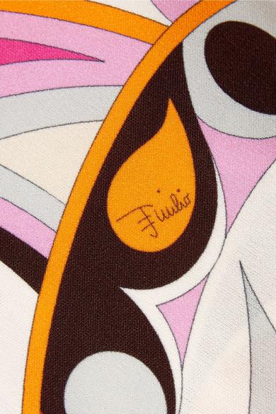 Emilio Pucci Bedruckte Schlaghose aus Jersey