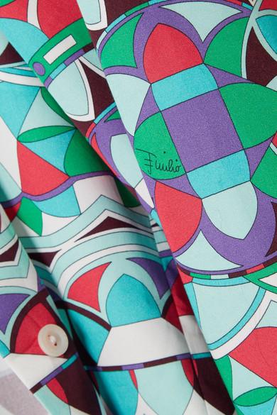 Emilio Pucci Bedrucktes Hemd aus Baumwollpopeline