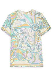 Emilio Pucci Miami printed silk top